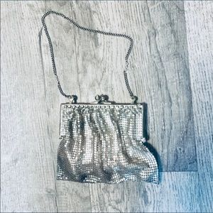 Vintage Moyna Mesh Petite Bag W/Rhinestone Trim